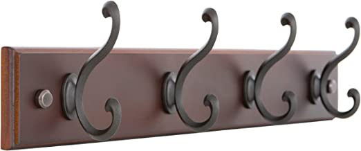 4 12 in. Black Heavy Duty Triple Coat Hook
