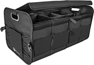 Miolle Trunk Organizer for car - Trunk Storage Organizer - Car SUV Van Cargo Storage Organizer - Auto Truck Organizers - Collapsible Organizer for Small and Large Cars (Large)
