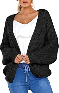 Niitawm Womens Chunky Cable Cardigans Long Sleeve Knit Oversized Cardigan Sweaters Outwear