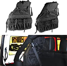 SUNPIE Roll Bar Storage Bag Cage for 2007~2019 Jeep Wrangler JK JL CJ LJ TJ Rubicon 4-Door with Multi-Pockets & Organizers & Cargo Bag Saddlebag Tool Kits Holder