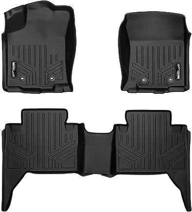 60 Topline Autopart Black Rubber Diamond Plate Truck Bed Floor Mat Liner For 05-18 Toyota Tacoma 5 Feet Short Bed