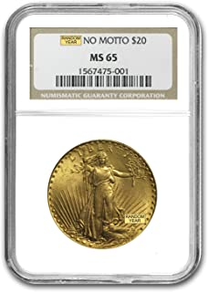1907-1933 $20 Saint-Gaudens Gold Double Eagle MS-65 NGC G$20 MS-65 NGC
