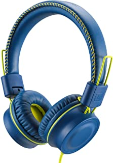 POWMEE M2 Kids Headphones Wired Headphone for Kids,Foldable Adjustable Stereo Tangle-Free,3.5MM Jack Wire Cord On-Ear Head...