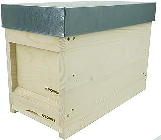 APIFORMERS Deutsch Normal Maß Ablegerkasten - aus Weymouthskiefer - Nachhaltig - Imkereibedarf - 5 Rähmchen - Massivholz - Naturprodukte - Bienenhaus