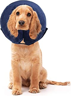 Pets Protective Inflatable Collar for Dogs and Cats - Soft Pet Recovery Collar (M)