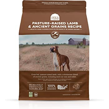 Open Farm Ancient Grains Dry Dog Food, Humanely Raised Meat Recipe with Wholesome Grains and No Artificial Flavors or Preservatives