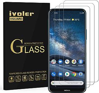 ivoler 3-pack skärmskydd för Nokia 8.3 5G, härdat glasfilm för Nokia 8.3 5G [9H hårdhet] [Anti-repa] [bubbelfri] [Kristall...