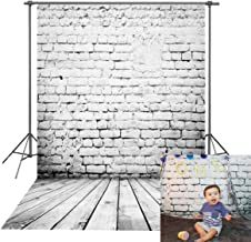 Daniu Wooden Floor Photography Backdrops Children Brick Walls Baby Background Vinyl 5x7FT 150cm X 210cm Daniu-JP060