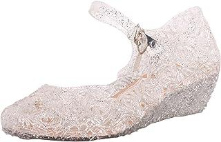 Tyidalin Filles Ballerine à talon Chaussures à talon Bloc pour Déguisement Princesse Soiree Ceremonie Mariage