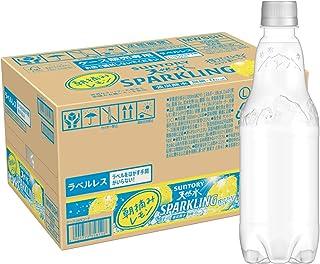 [炭酸水] サントリー 天然水スパークリング レモン ラベルレス 500ml ×24本