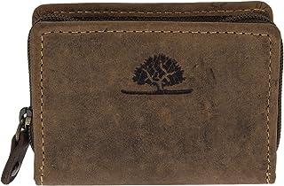 Greenburry Vintage Leder Minibörse kleine Münzbörse Münzbox Coin Box 1683