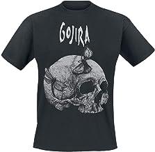 Gojira Moth Skull Hombre Camiseta Negro, Regular