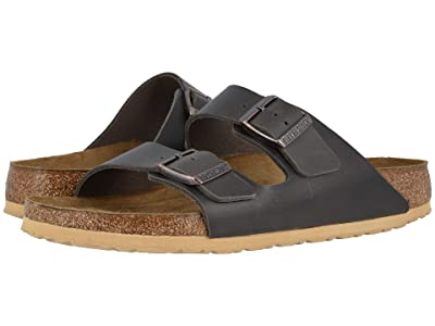 Birkenstock Arizona Soft Footbed (Antique Anthracite Leather) Men