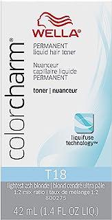 Wella Color Charm Permanent Liquid Creme Hair Color T18 Lightest Ash Blonde 42 ML
