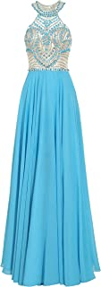فستان سهرة حريمي طويل من Meier مطرز باللون الأبيض على الظهر