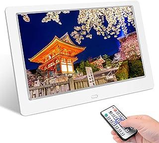 Tenswall デジタルフォトフレーム 10.1インチ 1280 * 800高解像度 IPS広視野角 液晶 写真10倍まで拡大可能/90°~360°回転可能/USBメモリー/SDカードは32GBまで対応/写真音楽動画再生/カレンダー/アラーム...