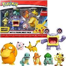 "Pokémon Battle Action Figure Multi 8 Pack - Comes with 2"" Bulbasour, 2"" Squirtle, 2"" Charmander, 2"" Pikachu, 2"" Houndour, 2"" Jigglypuff, 3"" Haunter, & 3"" Psyduck"