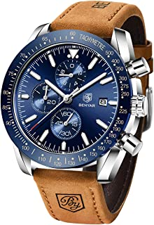 BENYAR Classic Fashion Elegant Chronograph Watch Casual Sport Leather Band Mens Watches 5140L