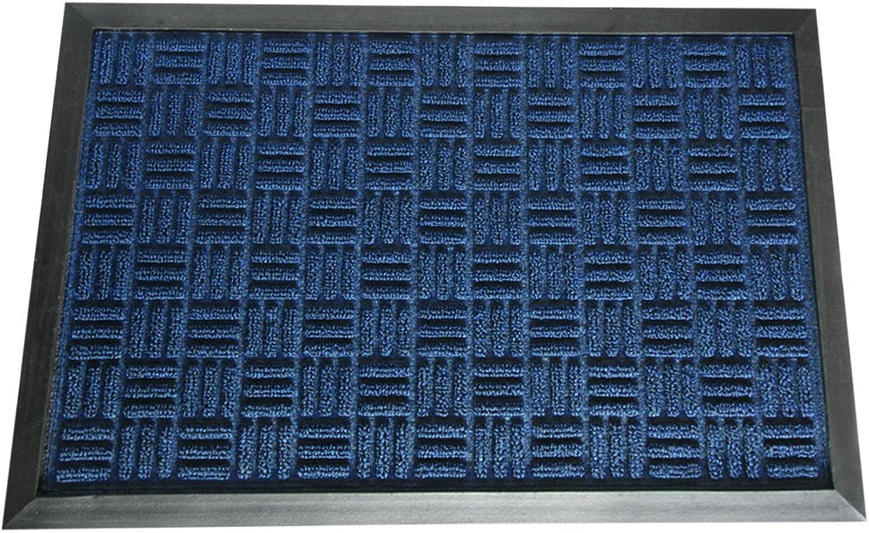 Rubber-Cal 03-197-ZWBL Wellington Carpet Doormat, bluee, 4' x 6'