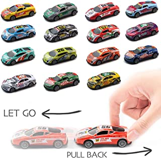 Fun Party Assorted Racing Cars - Set 15 PCS Mini Pull Back Cars Vehicles for Toddlers and Kids Party Favor Giveaway Ideal Birthday Party, Bulk School Reward Prizes