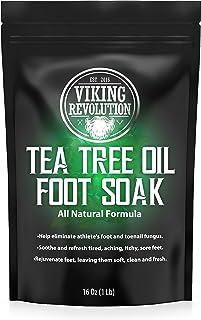 Tea Tree Oil Foot Soak with Epsom Salt - Athletes Foot, Toenail Fungus Treatment. Detox Foot Bath Soak for Foot Odour and ...