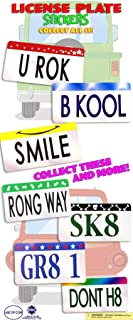 License Plate Stickers for Vending Machine, Parties: 2 Boxes (600 Count)