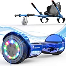 """EverCross Hoverboard, 6.5"""" Self Balancing Scooter Hoverboards with Seat Attachment, Hover Board Scooter with Bluetooth & L..."""