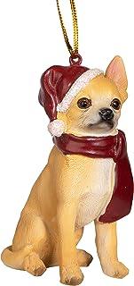 Best Design Toscano Christmas Xmas Chihuahua Holiday Dog Ornaments, Full Color Reviews