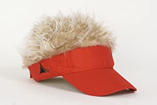 FlairHair Red Visor with Blonde Hair