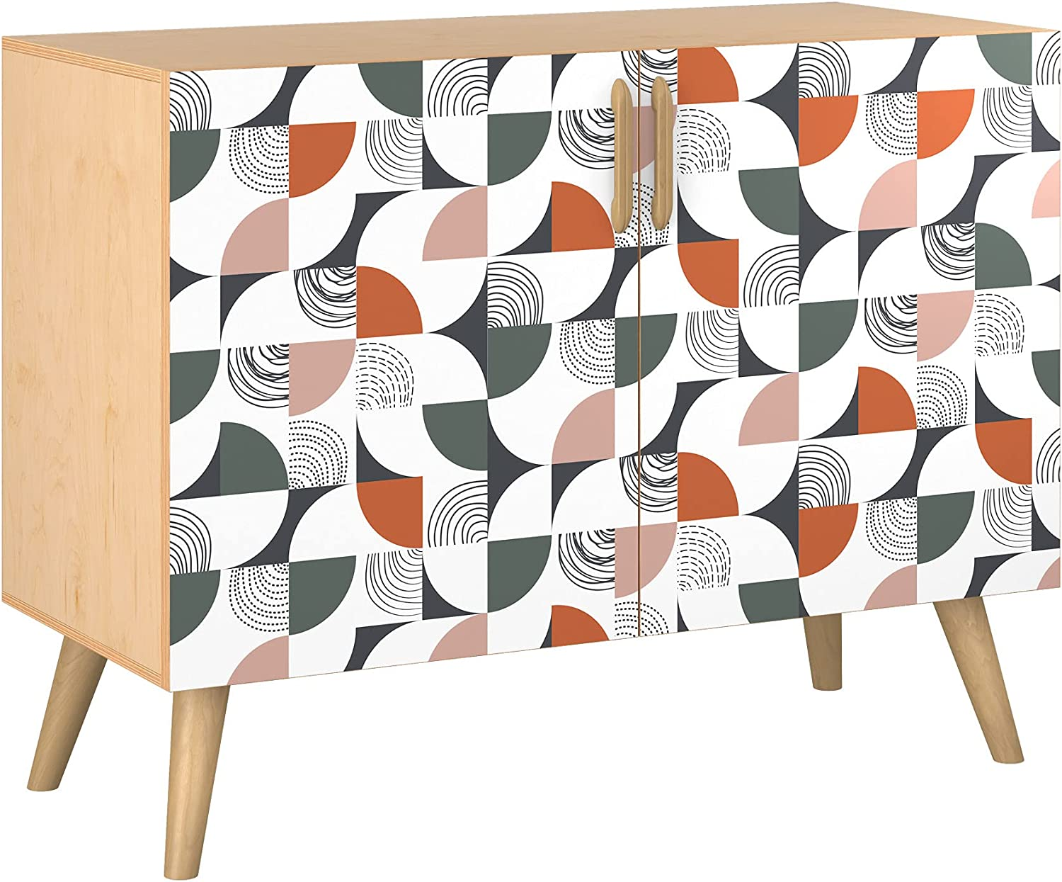 Poppy Credenza - Natural Sadie shopping Design Styl in 5 Base Colors Max 66% OFF 11