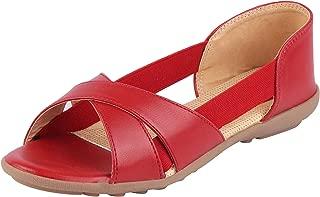BATA Women's PU Strapless Sandals
