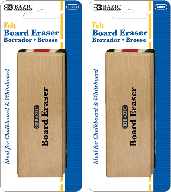 BAZIC Chalkboard In stock Eraser sold out Wood Blackboard Whiteboard Erasers Felt