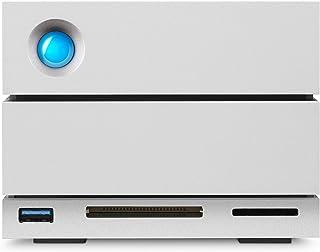 LaCie 2big Dock, 8 TB, Externe Harde Schijf, Thunderbolt 3, 3.5 Inch, RAID 1, 2, USB-C + Card Reader, Voor PC & Mac, Zilve...