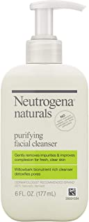 Neutrogena Naturals Purifying Daily Facial Cleanser with Natural Salicylic Acid from Willowbark Bionutrients, Hypoallergen...