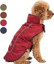 SENTEPETSDog Winter Warm Coat Windproof Fleece Lining Dog Clothes,Turn-Down Collar Patchwork Dog Jacket, Apparel Cozy Warm Vest for Small Medium Dogs