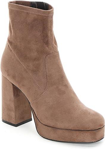 ALESYA by zapatos&zapatos - Botines Altos con plataforma y tacón Ancho, con Tacones 10 cm