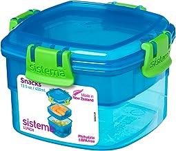 Fiambrera sin BPA macosa pt501/Juego de 4/Piezas recipientes con Tapa Lata Snack Bote para latas Fruta Multiusos Tarro de