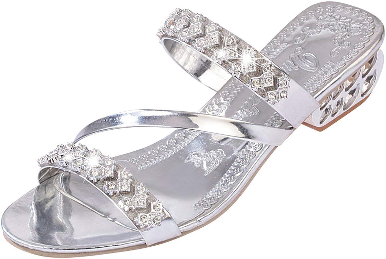 Dont mention the past Women Fashion Crystals Sandals 2019 Summer Comfortable Heels Beach flip Flops