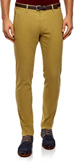 Hombre Pantalones Chinos de Algodón