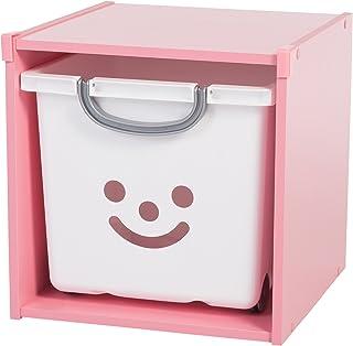 Iris Ohyama, étagère de rangement pour coffre de jouet, 1 compartiment- KCX-1 - Bois, Rose, 34,6 x 35,1 x 34,6 cm
