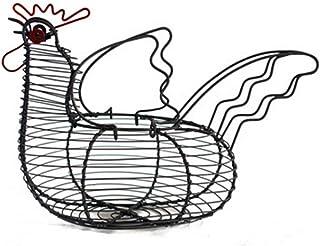 SHYPT Creative Fer Art Oeufs Panier de Rangement en Forme de Poulet Porte-Oeufs ménage légumes conteneur Organisateur Pani...