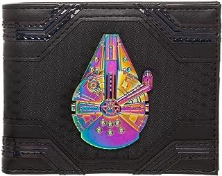 Star Wars Millennium Falcon Badge Trifold Chain Wallet, Disney Han Solo Wallet Chain