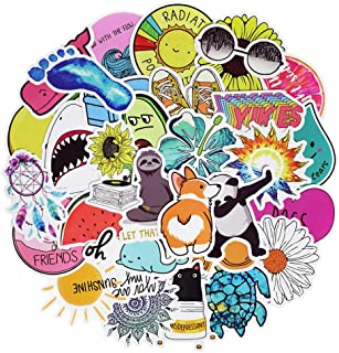 Stickers for Water Bottles, Waterproof Vinyl Laptop Stickers for Kids Hydro Flask Cars Laptops Skateboard Bumper Computer Phone Case (50 Pcs Cute Style Stickers)
