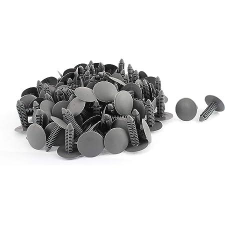 100 X 7mm Loch Kunststoffnieten Verschluss Push Clips Grau Für Auto Auto Fender De Auto