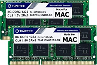 Sponsored Ad – Timetec 16GB KIT(2x8GB) Compatible for Apple DDR3 1333MHz PC3-10600 CL9 for Mac Book Pro (Early/Late 2011 1...