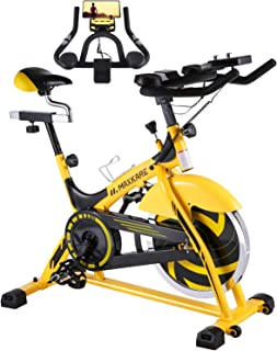 MaxKare Stationary Bike Belt Drive Indoor Cycling Bike 44lbs Flywheel & Pulse Sensor/LCD Monitor/Ipad Mount Exercise Bike w/Adjustable Handlebar for Home Cardio Workout