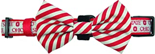 Pronto Petwear NCAA Ohio State | OSU Scarlet & Gray Pet Collar with Removable Bow