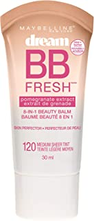Maybelline New York Makeup Dream Fresh BB Cream, Medium Skintones, BB Cream Face Makeup, 1 fl oz