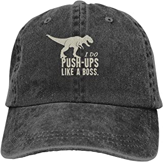 I DO Push-UPS Like A BOSS Cowboy Cap Unisex Adjustable Trucker Baseball Hats Black