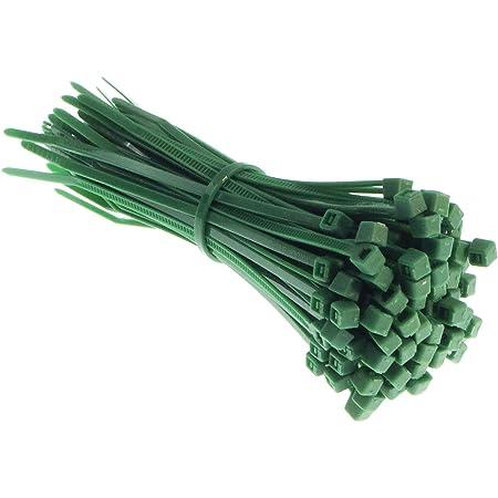 Cw Handel Premium Kabelbinder In Grün 100 Stück 100mm X 2 5mm Uv Hitze Und Kälteresistent Baumarkt